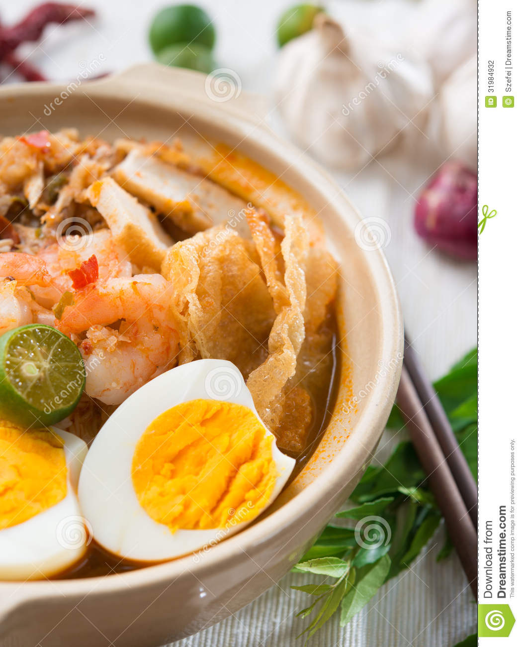 Prawn noodles stock photography image 31984932 for Asian cuisine singapore