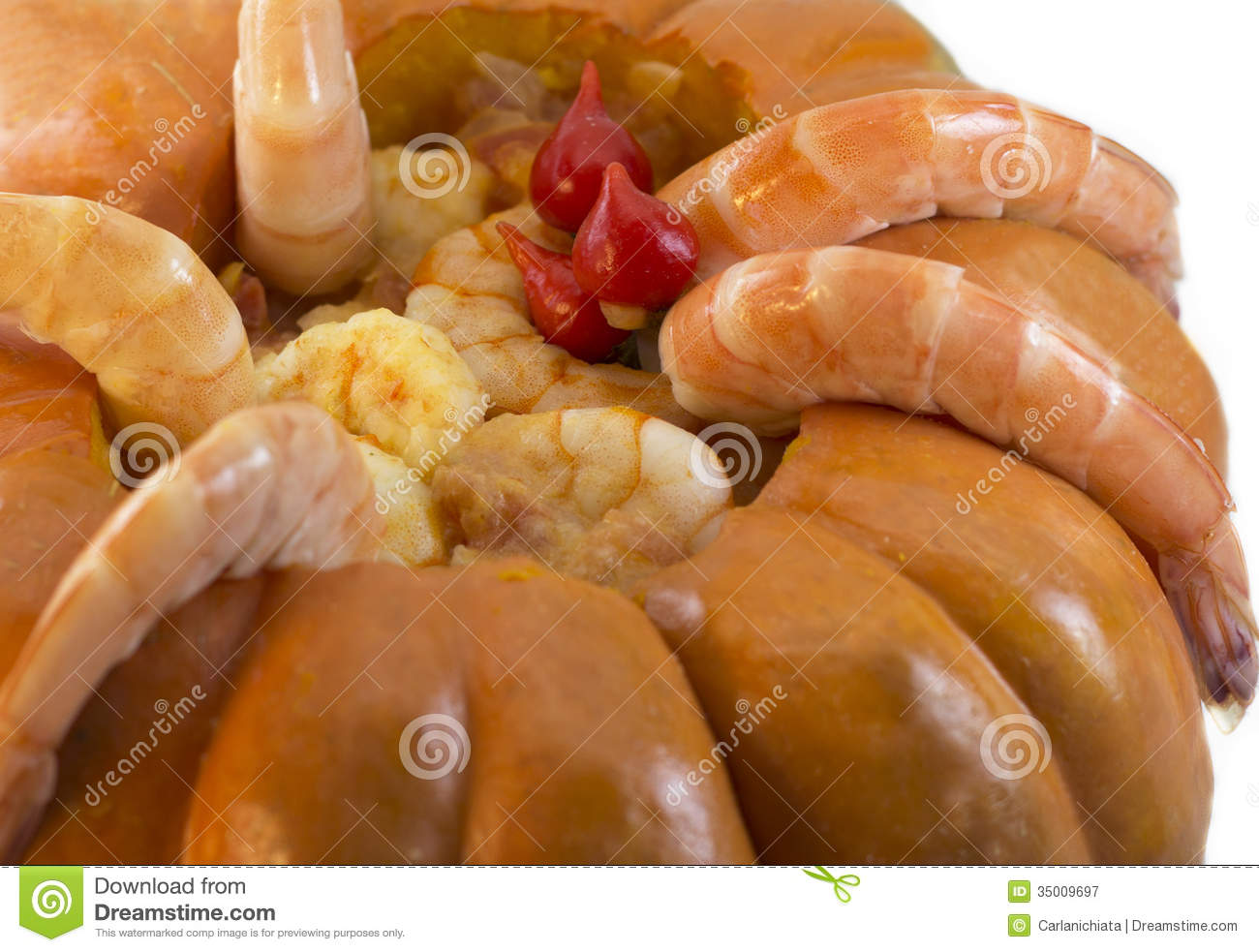 Prawns in pumpkin royalty free stock photography image for Authentic brazilian cuisine