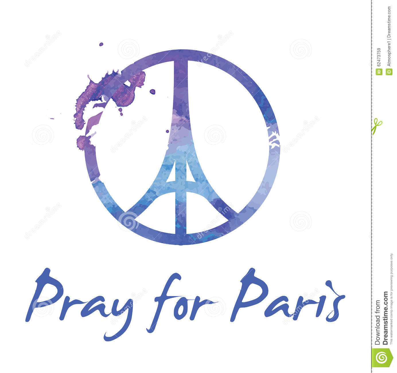 Pray for paris illustration of a symbol with praying hands pray for paris illustration of a symbol with praying hands eiffel tower and symbol for peace biocorpaavc Gallery