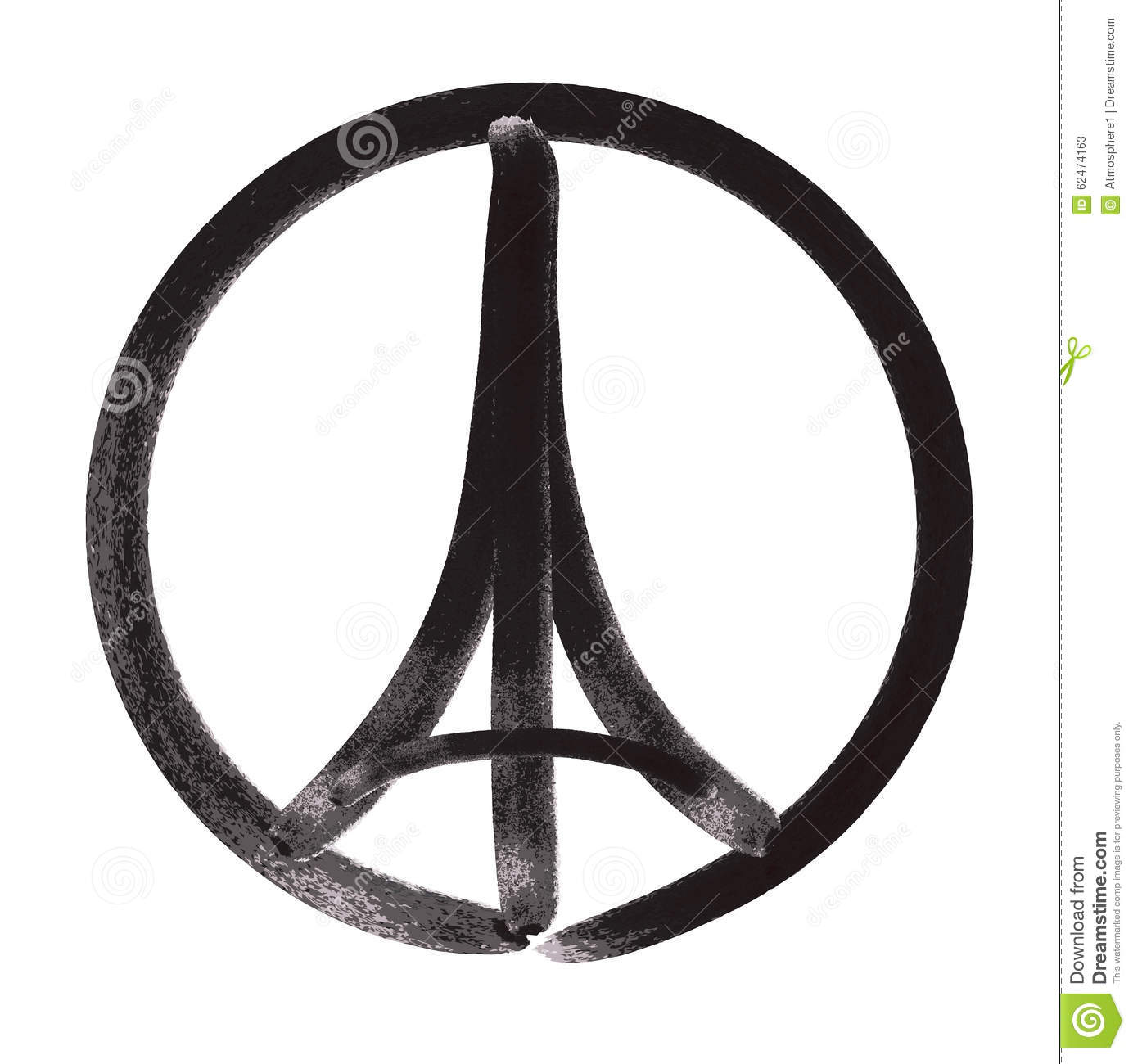 pray for paris illustration of a symbol with praying hands eiffel