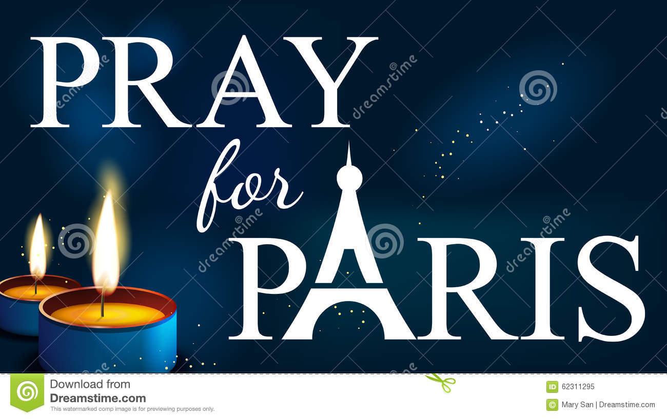 pray for paris abstract background silhouette stock vector