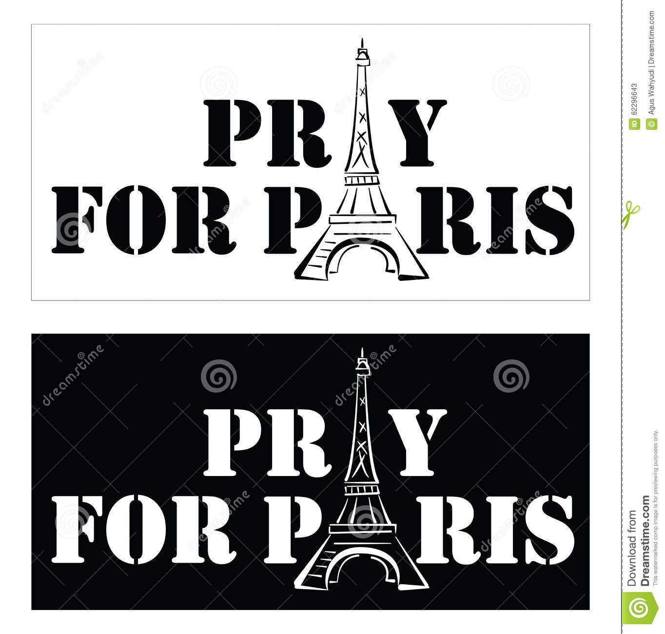 pray for paris stock illustration illustration of france 62296643