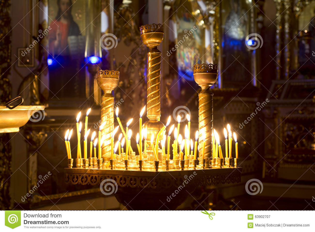 Prayer Candles in orthodoxy church
