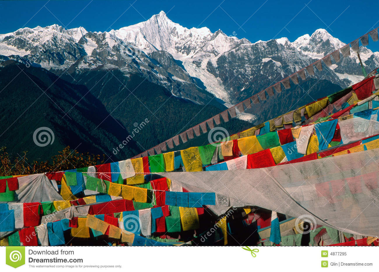 Prayer Flags and Kawagebo