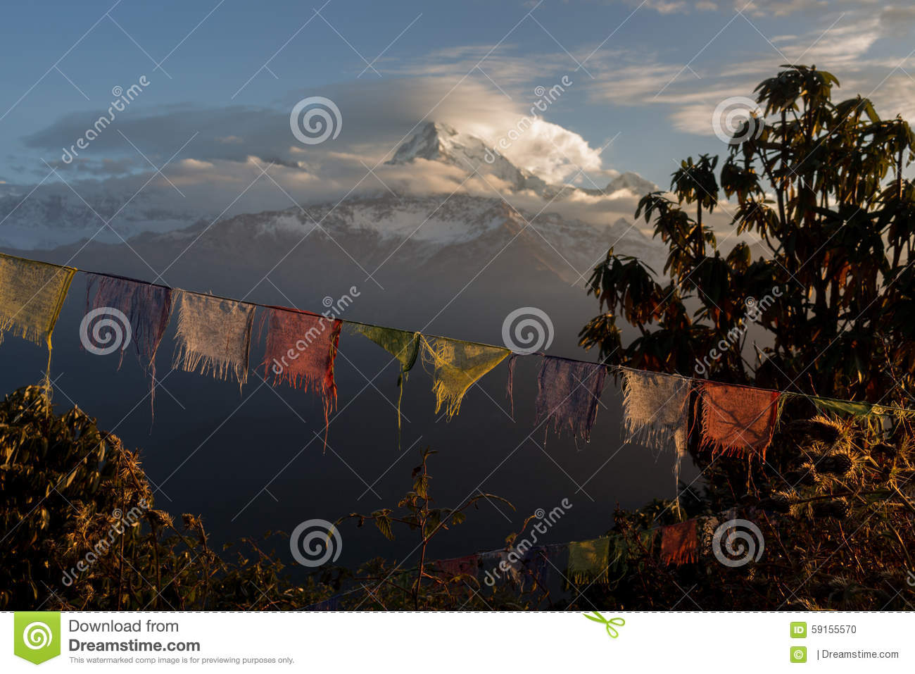 Prayer Flags at Poon Hill