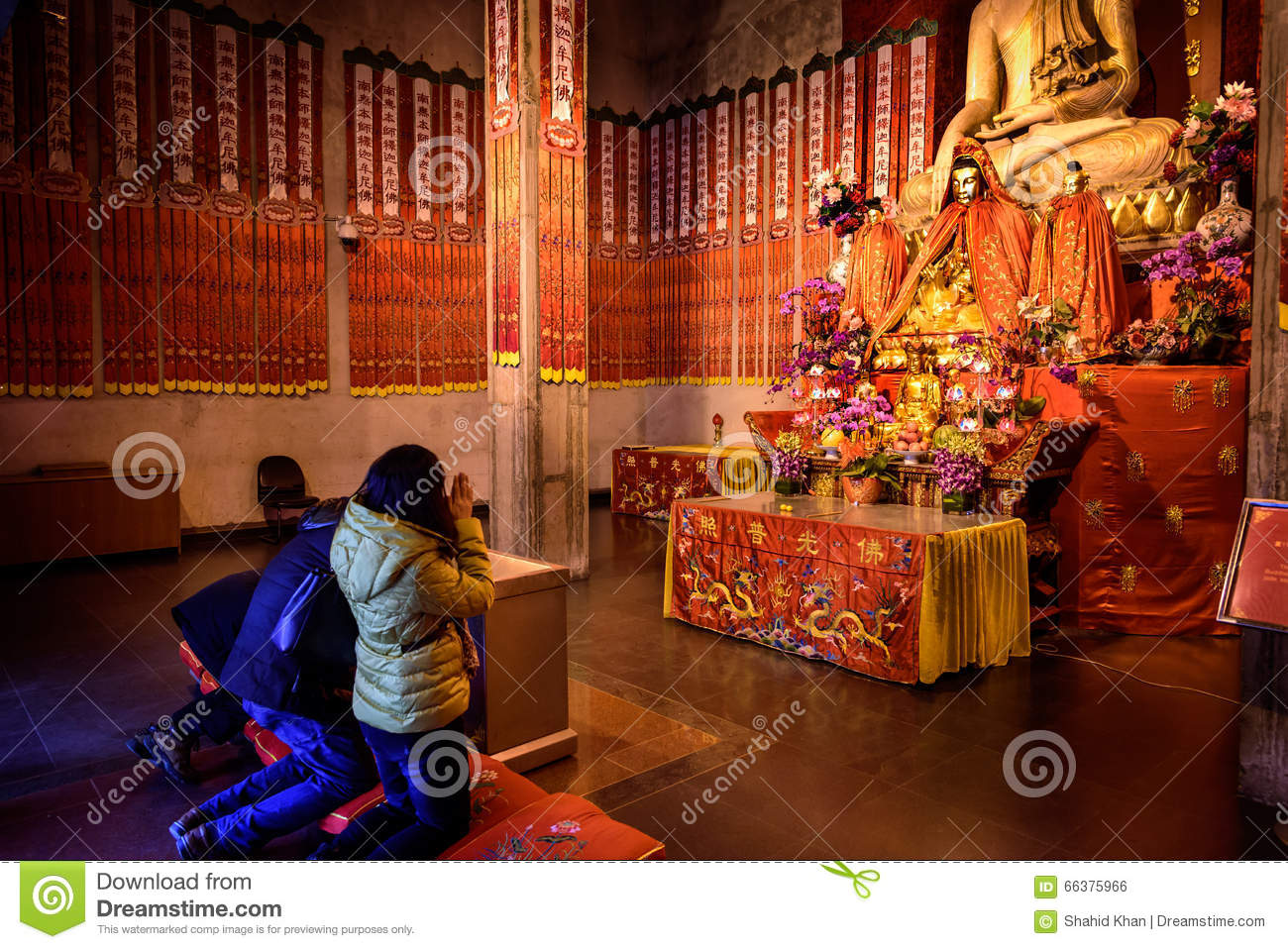 Prayer In Temple, China Stock Photo - Image: 66375966