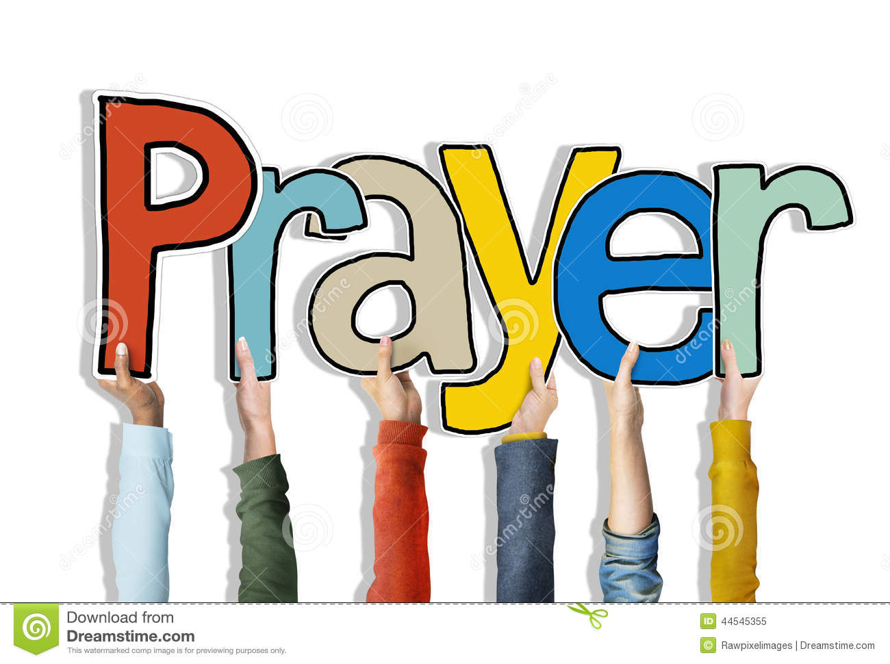 Prayer Word Concepts Isolated On Background Stock Photo ...