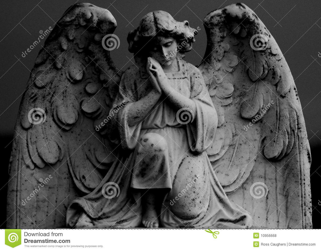 statue of angel praying stock photo image of heavenly 10956668