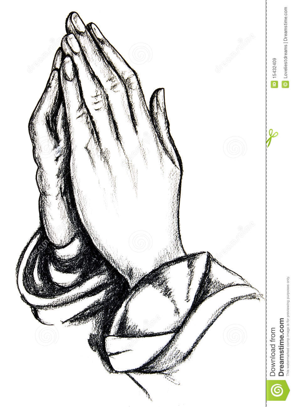 Praying hands royalty free stock images image 15432409 Drawing images free download