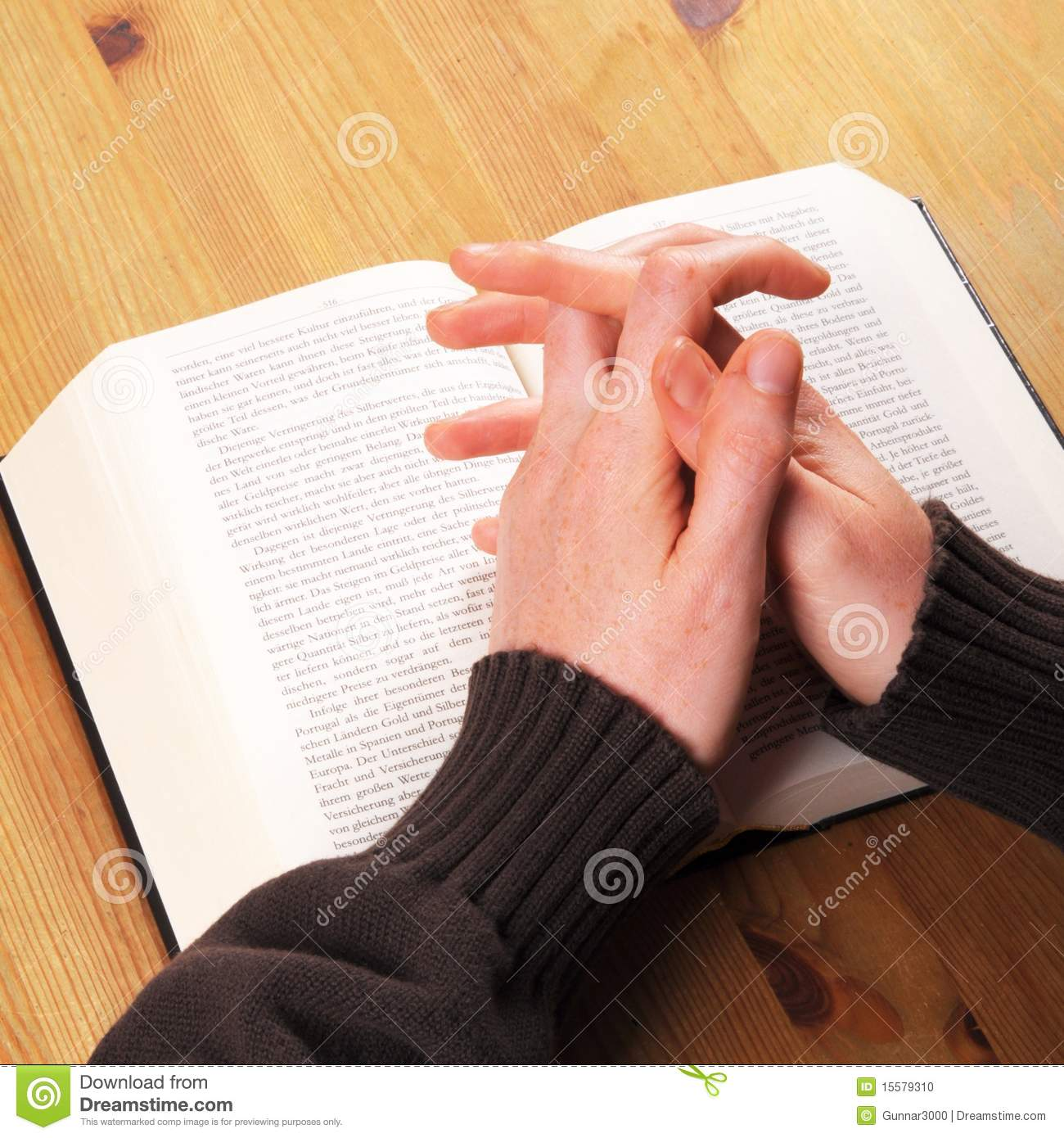 Praying hands stock photo  Image of church, peace, christ - 15579310
