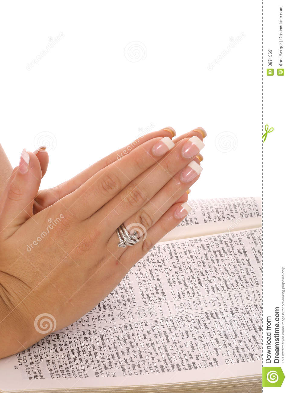 praying hands on bible stock image  image of belief  beautiful