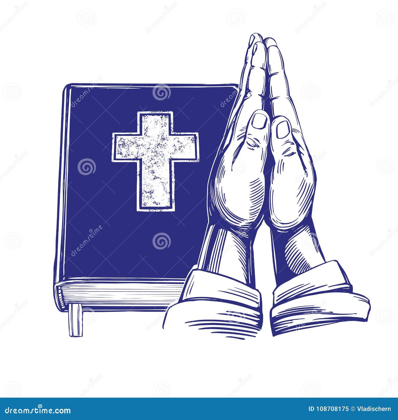 Praying Hands Bible Gospel The Doctrine Of Christianity Symbol