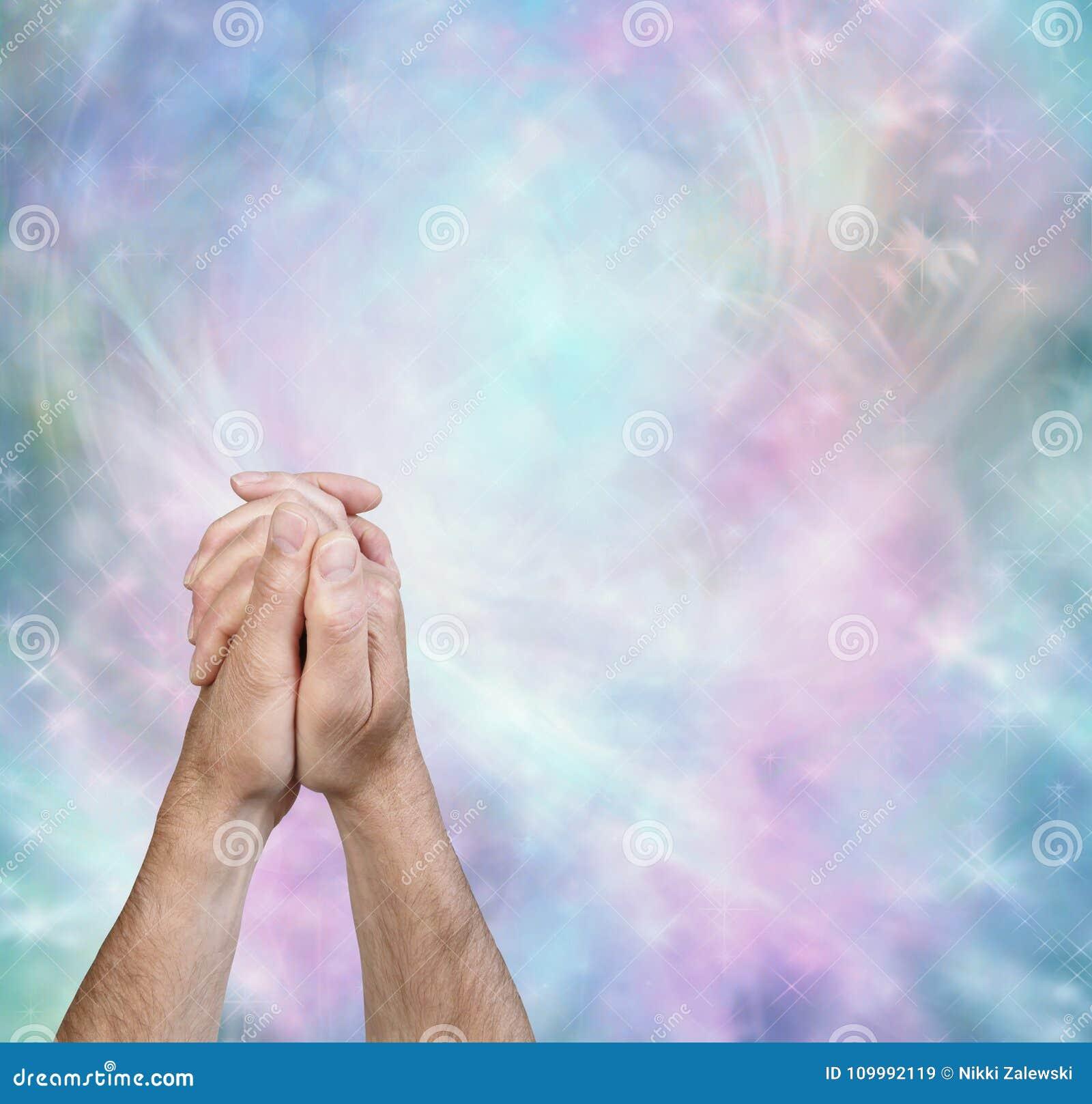 praying hands message border background stock image