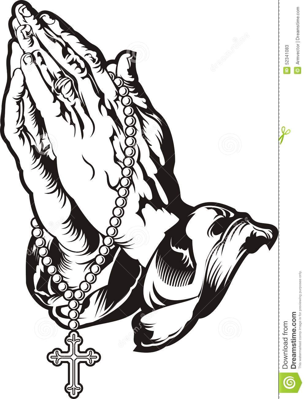 praying hands with rosary tattoo stock vector image prayer hands clipart free prayer hands clip art png