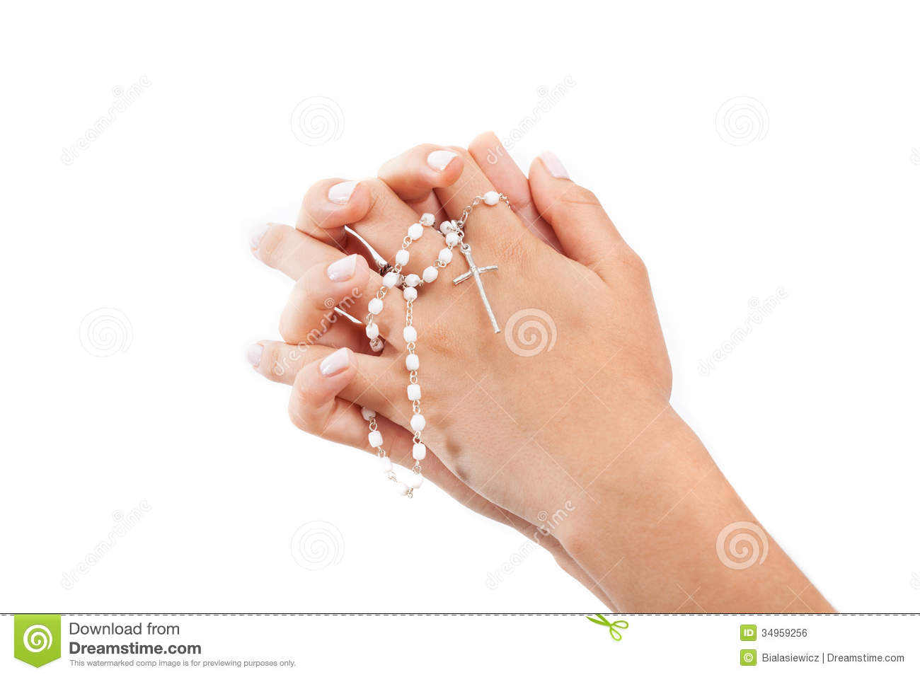 praying hands with a rosary stock photo image of protestantism
