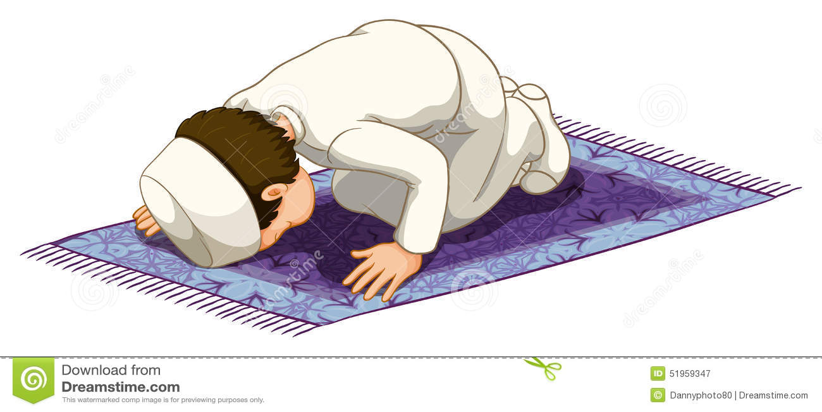 Praying muçulmano