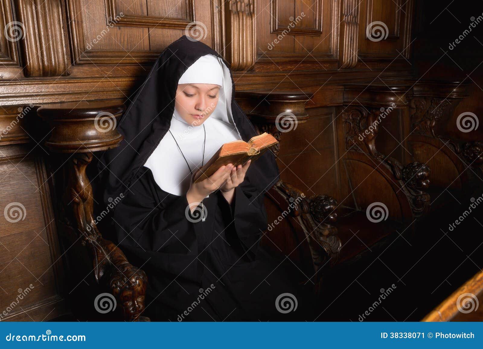 Praying novice nun