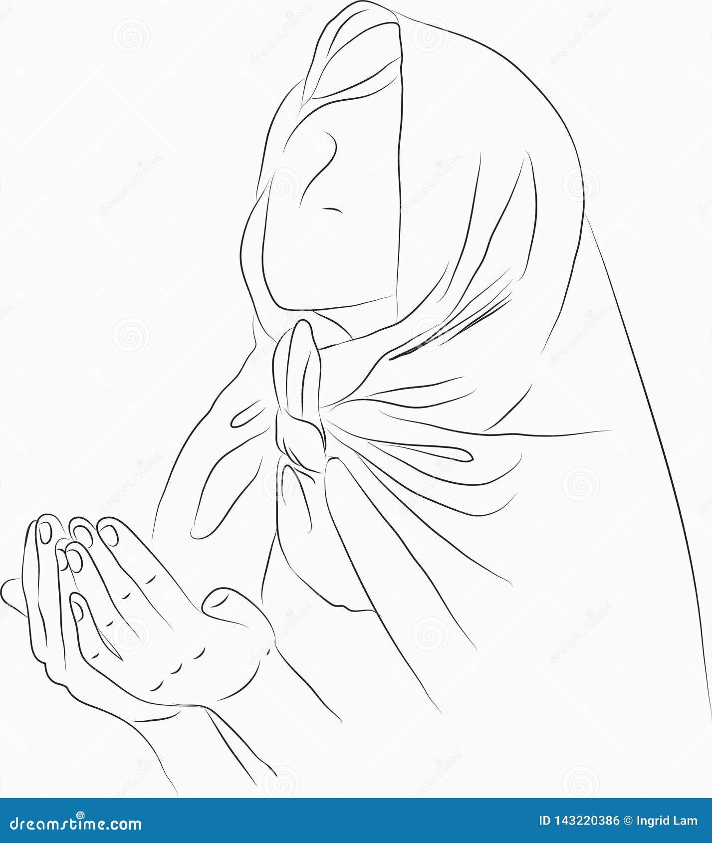 Islam praying woman