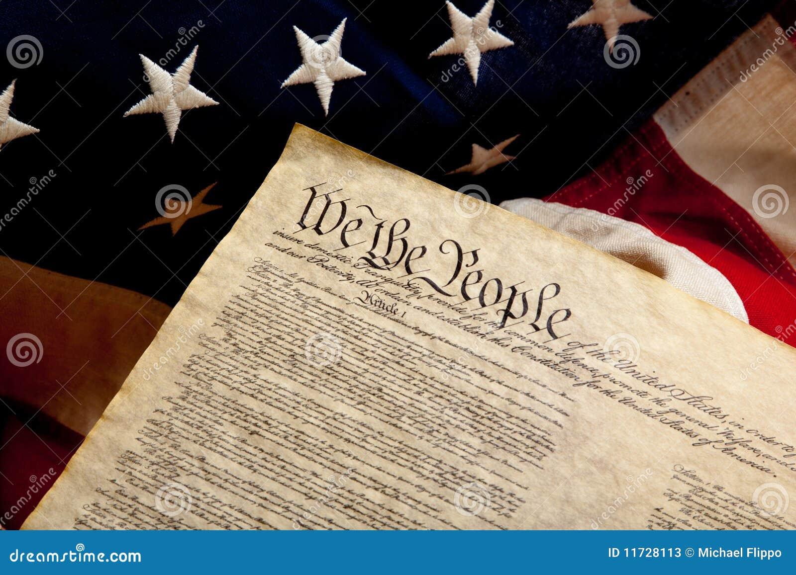 Preâmbulo da constituição e da bandeira americana