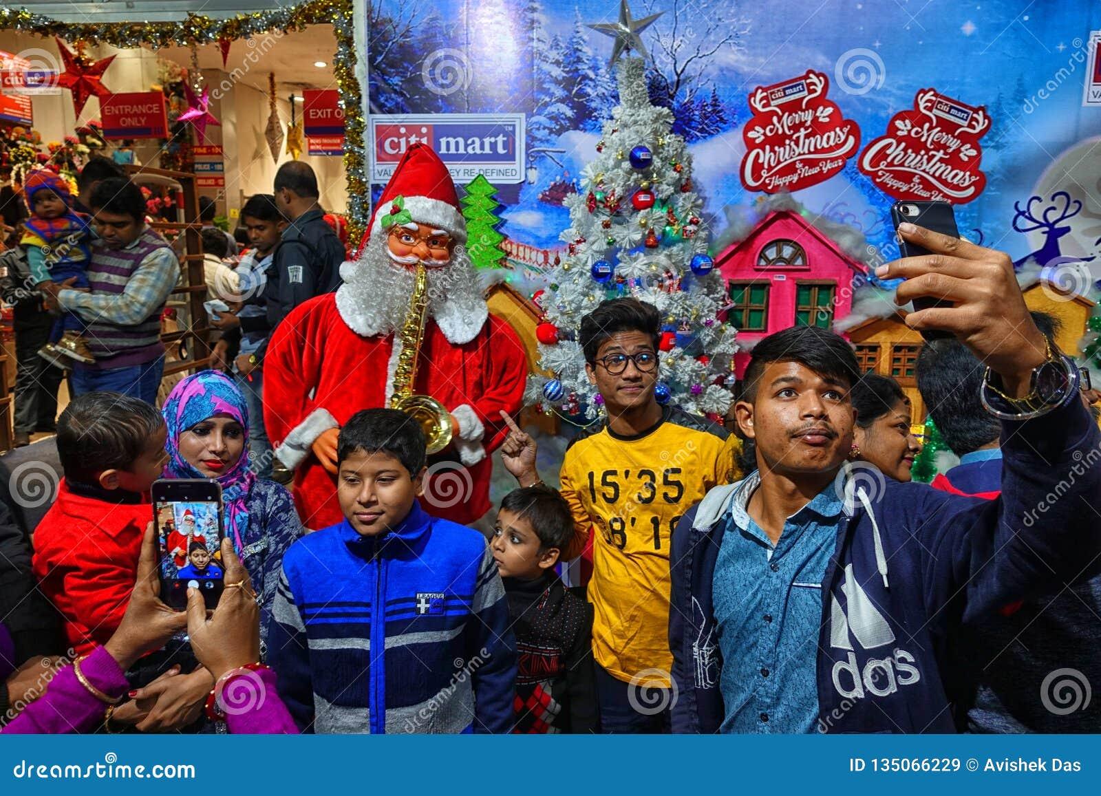 Christmas In India Images.Pre Christmas Celebration At Kolkata India Editorial Stock