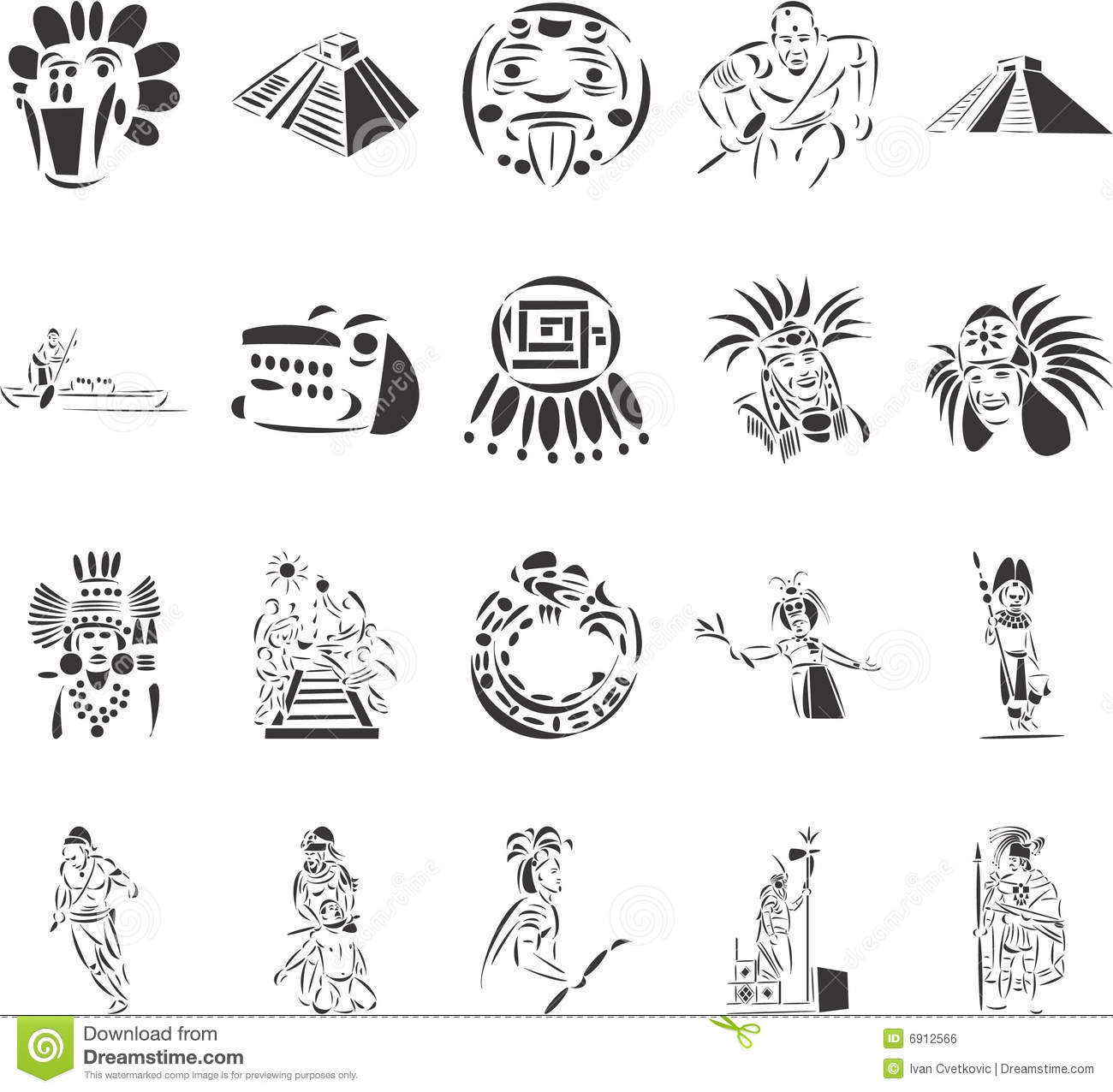 Pre-Columbian Civilizations Stock Vector