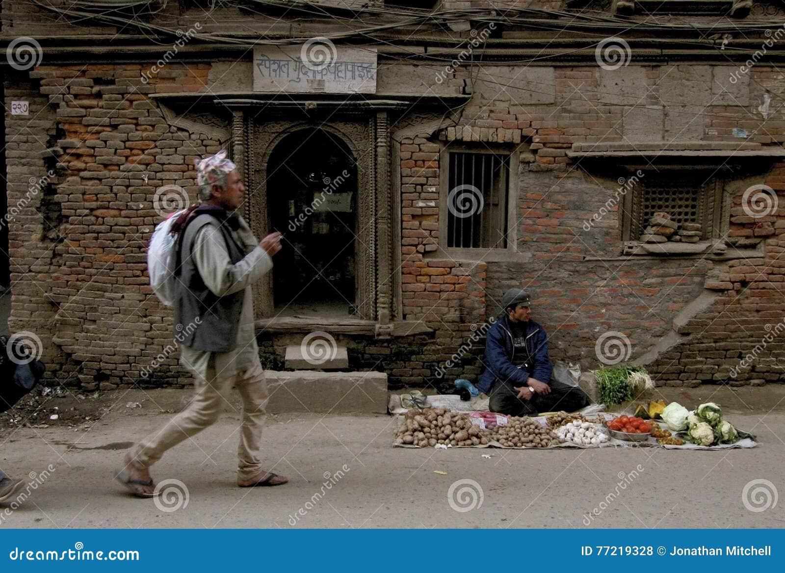 Pre jordskalv Katmandu Nepal
