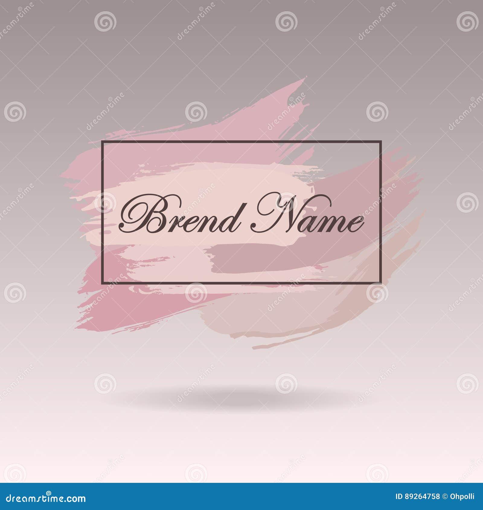 Pre-made Logo Design, Banner And Watermark  Artistic Brushes Design