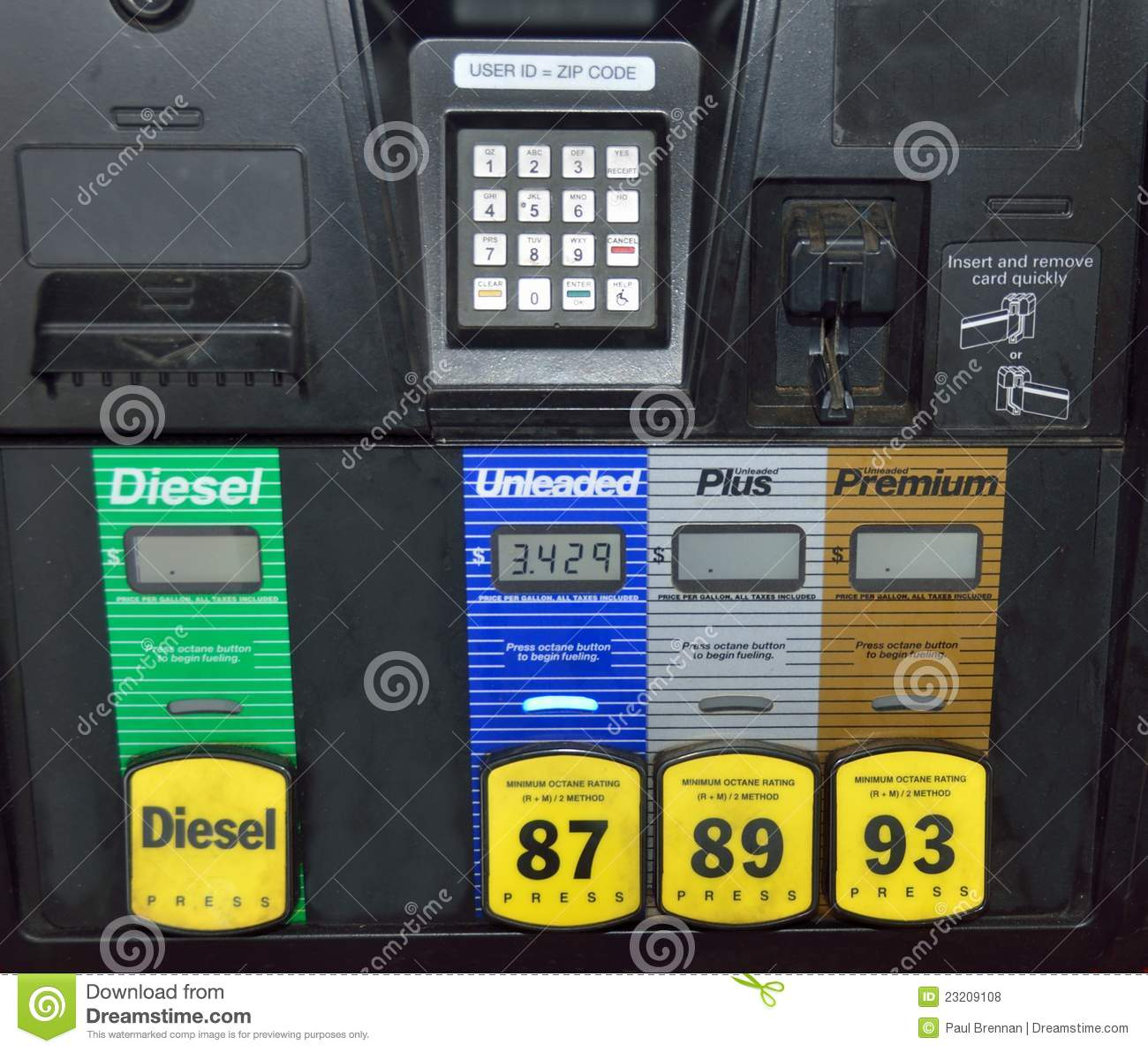 Pre Pay Fuel Pump Royalty Free Stock Photos Image 23209108