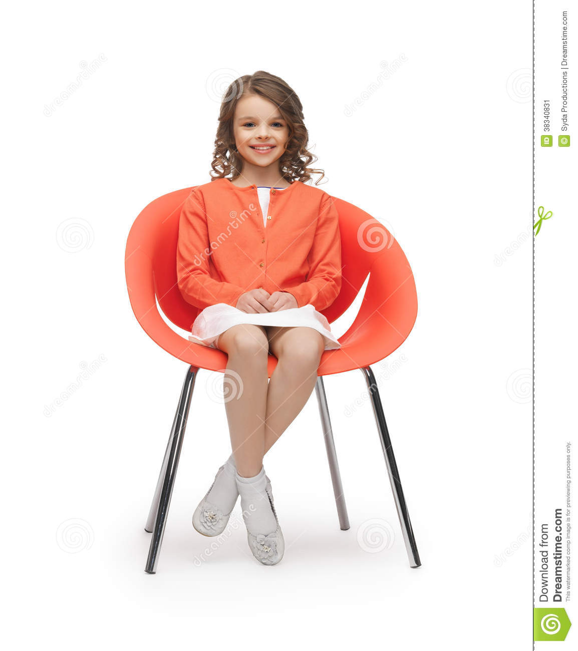 on sitting Teen chair girl