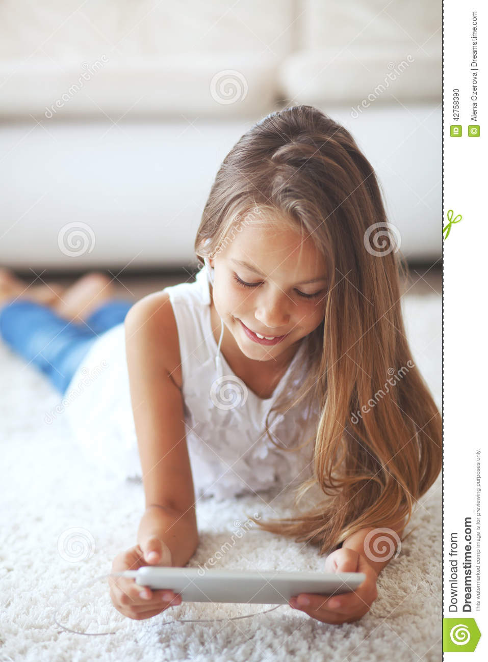 Pre teen girl with tablet pc stock photo image 42758390 for Teen home pic