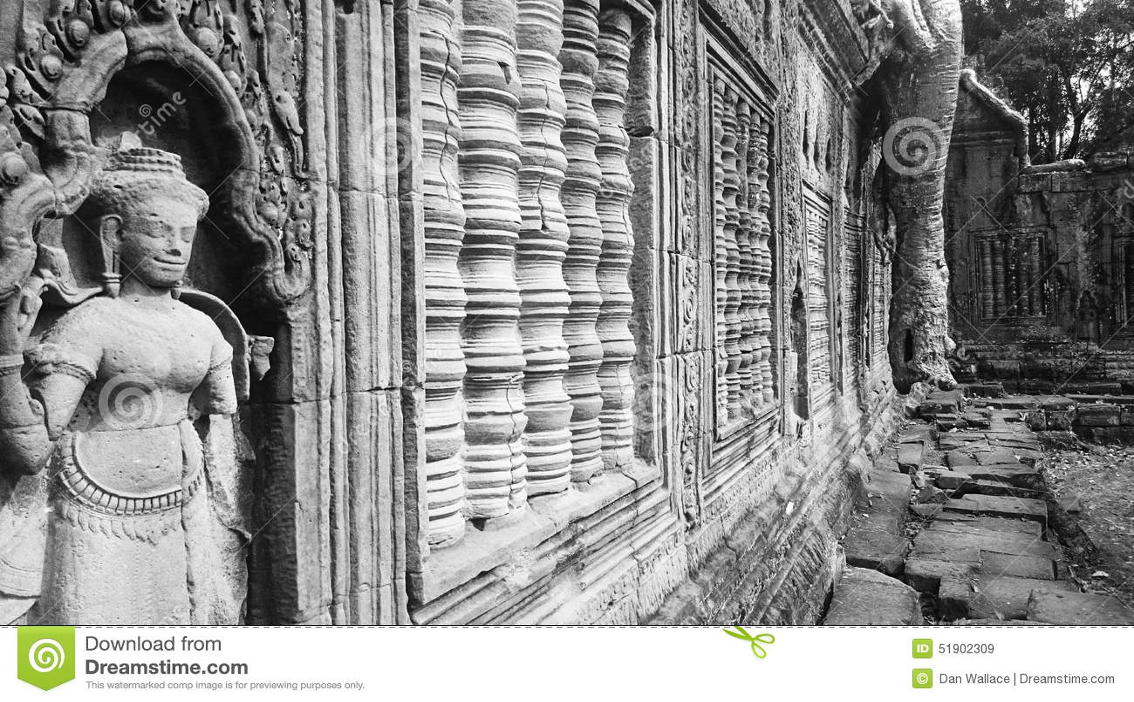 Preah Khan Temple en parc archéologique d Angkor