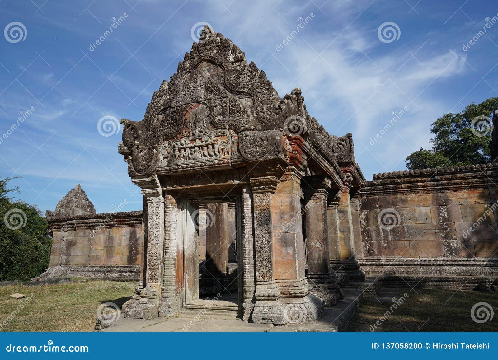 Third Gopura Of Preah Vihear Temple, Cambodia Stock Photo - Image of