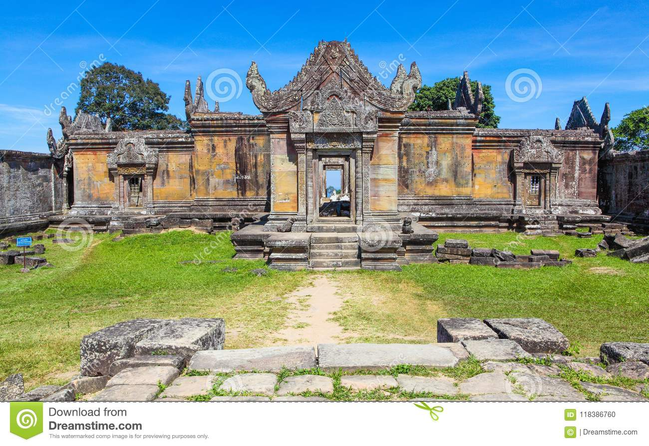 Preah Vihear Temple top at preah vihear mountain located in Preah Vihear Province Cambodia