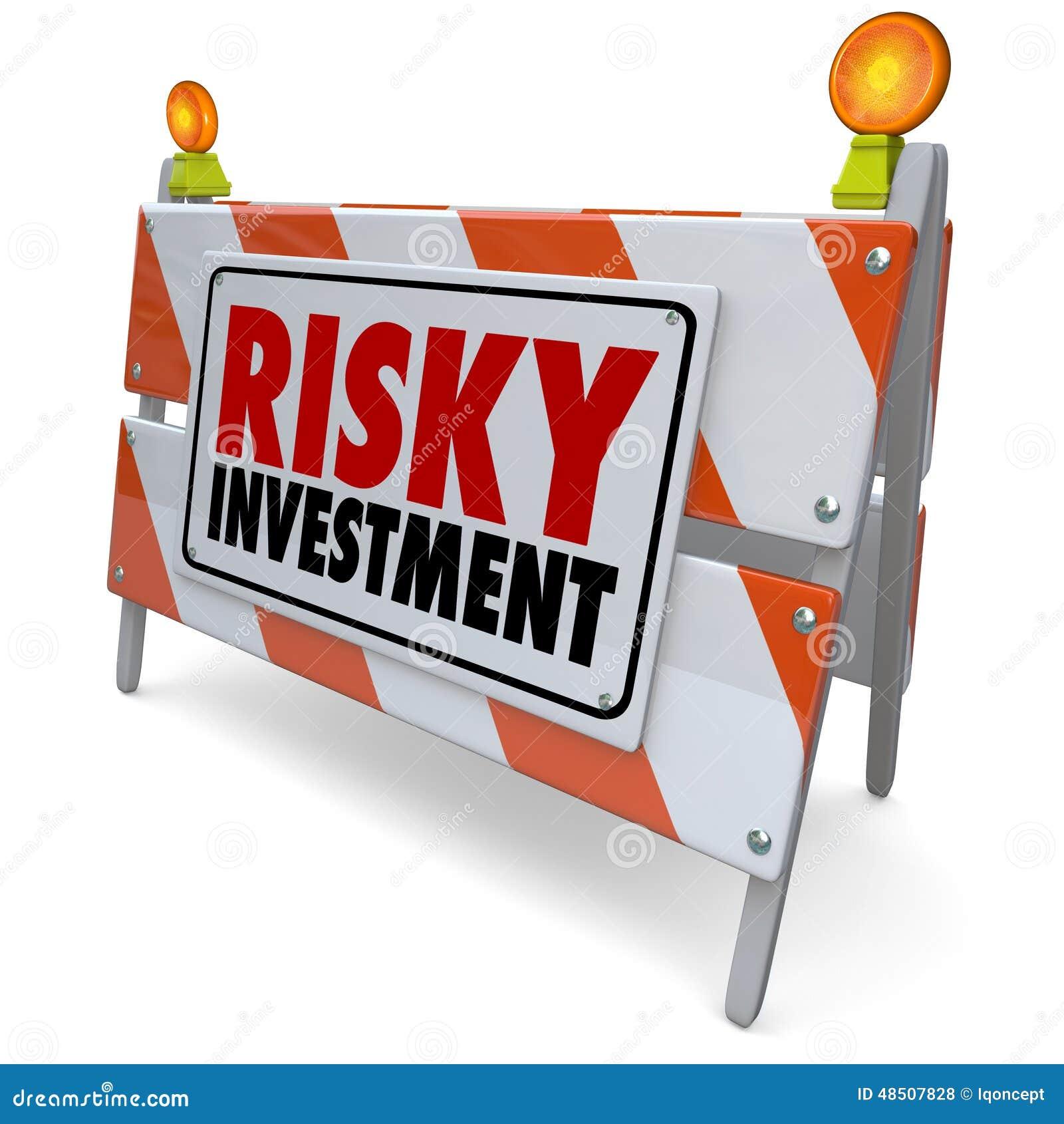 Precaución de la gestión de dinero de la barrera de la señal de peligro de la inversión aventurada