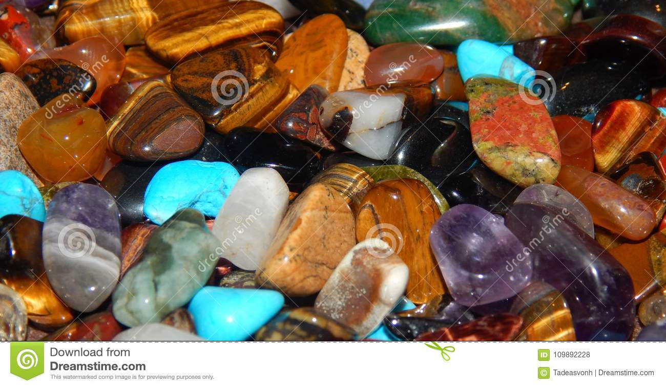 Precious Stones From All Around The World Stock Photo Image Of