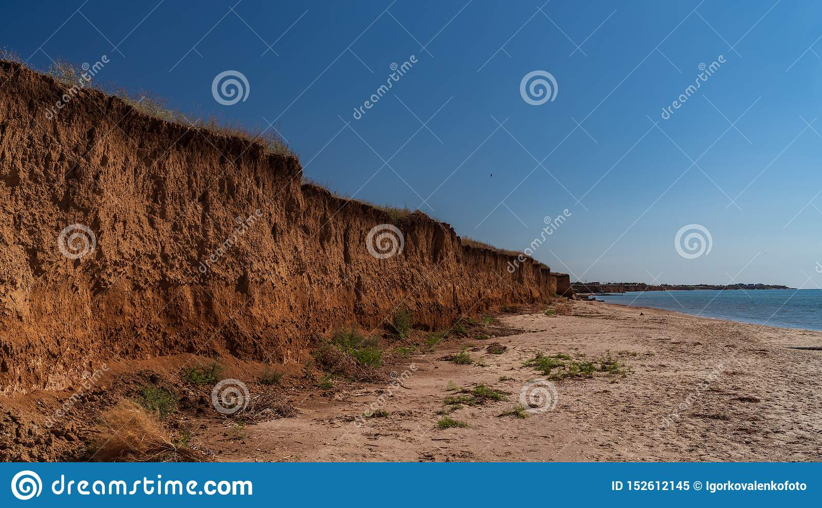 Precipicio en el mar de Azov, paisaje