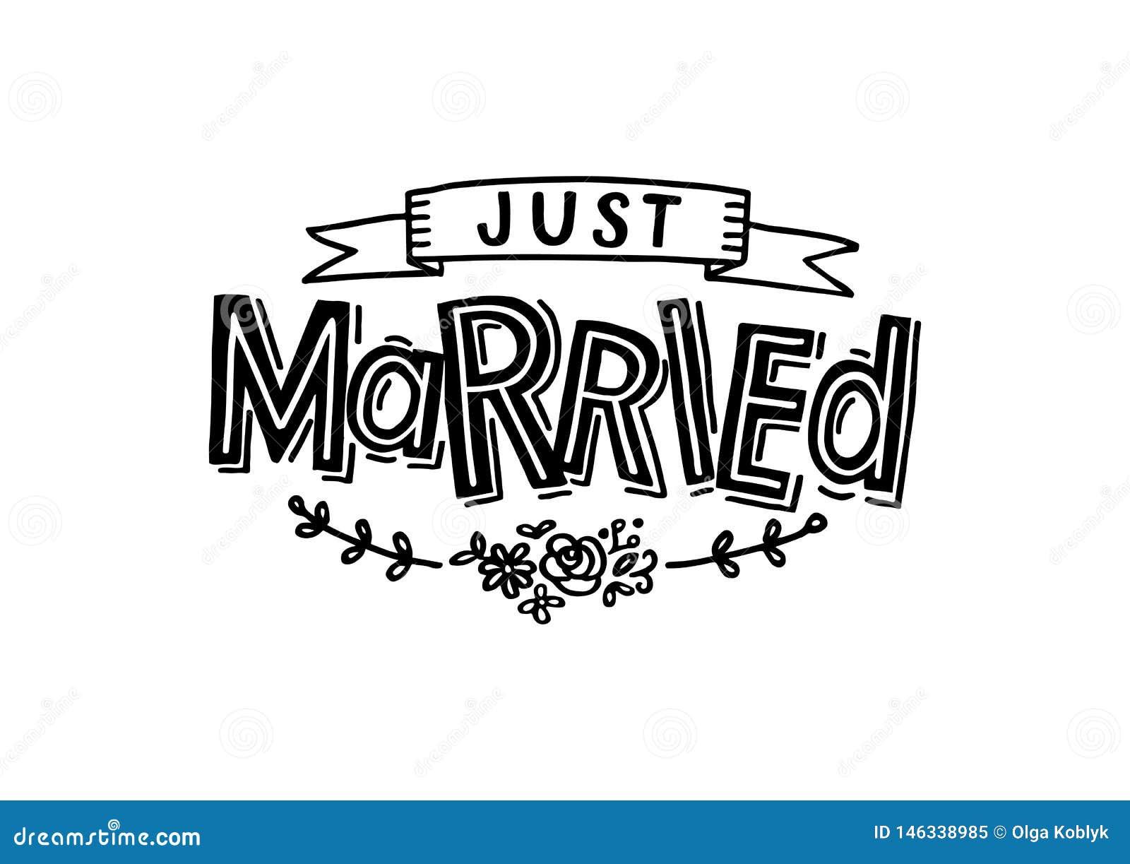 Precis gift - bröllopkort