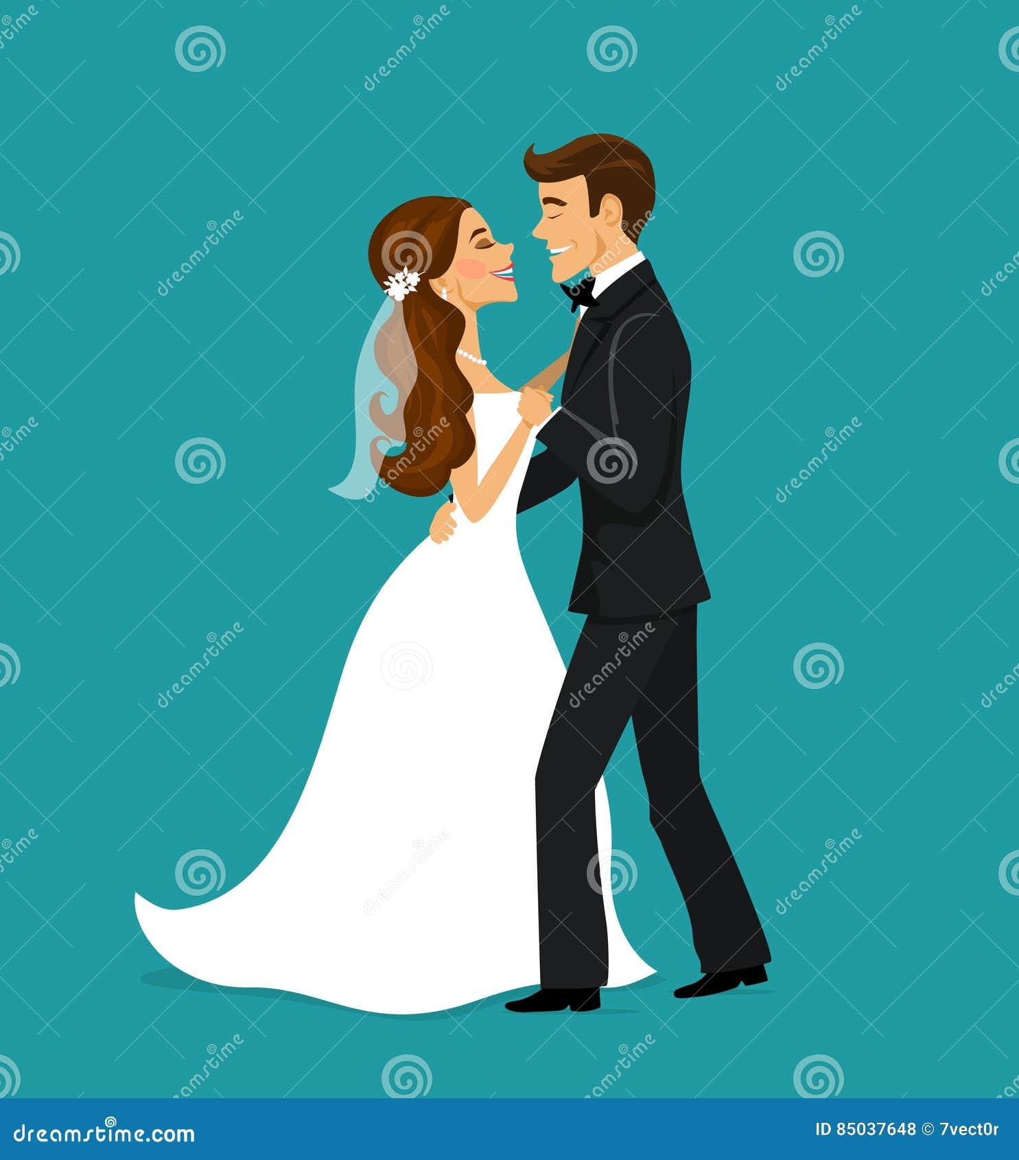 Precis gift parbrud- och brudgumdans