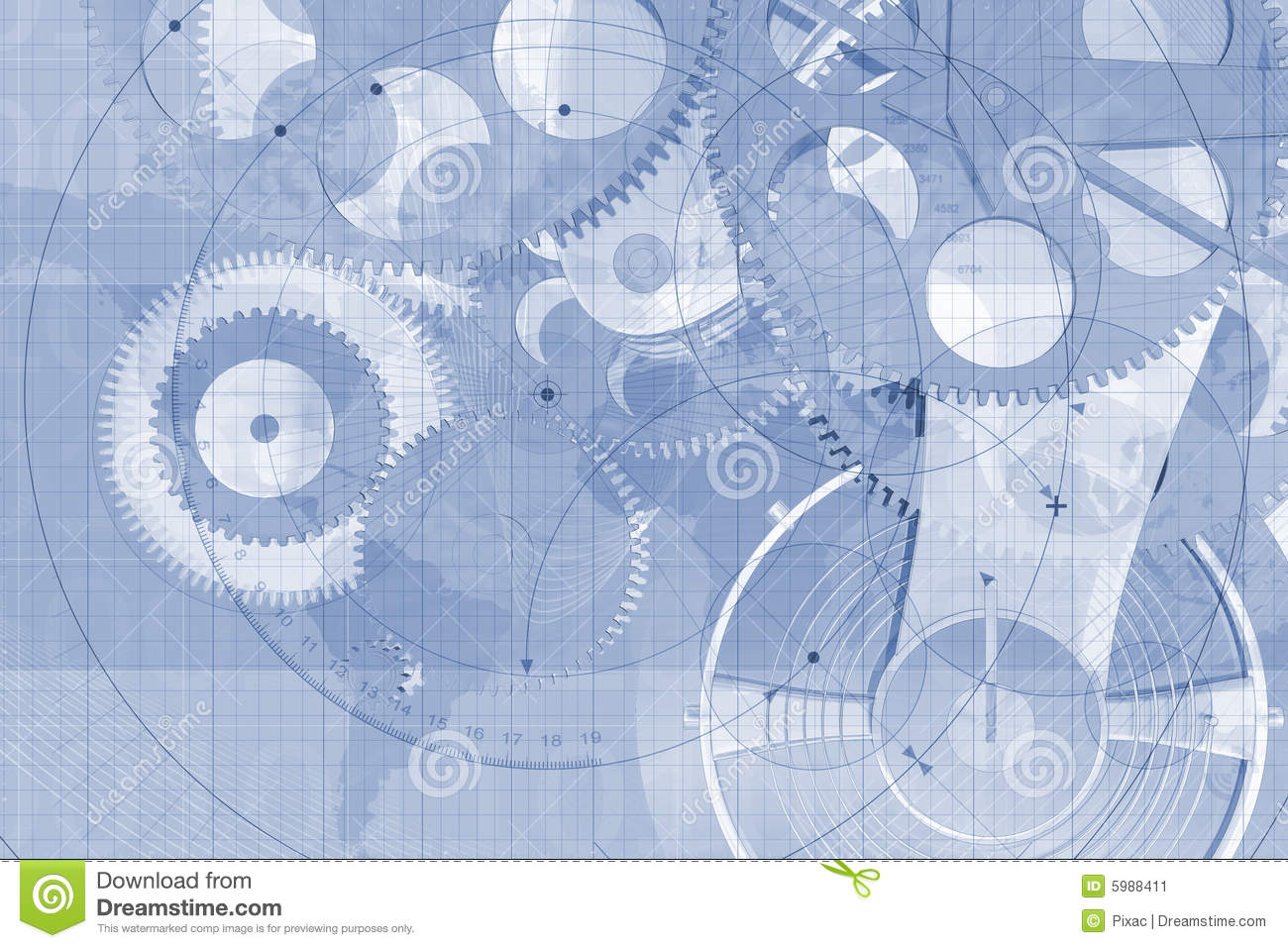 Precision Parts Background Stock Image Image 5988411