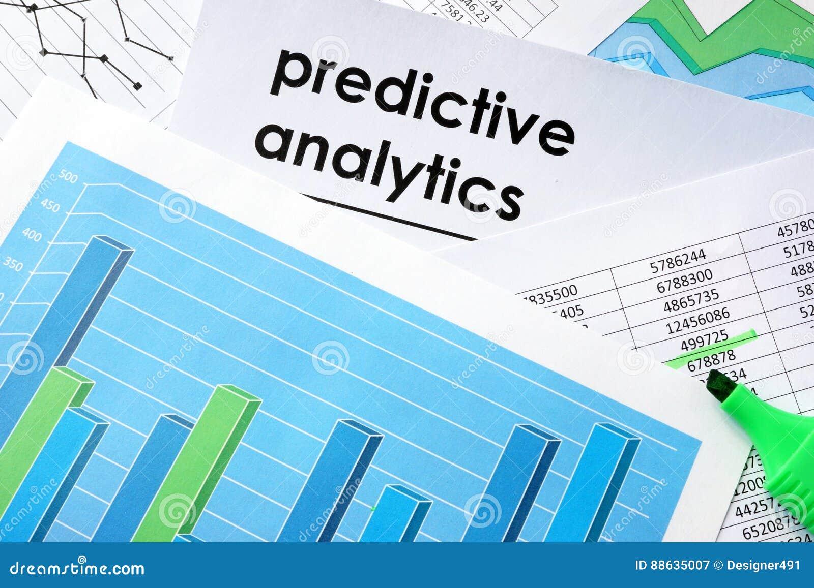 Predictive analytics written in a document.