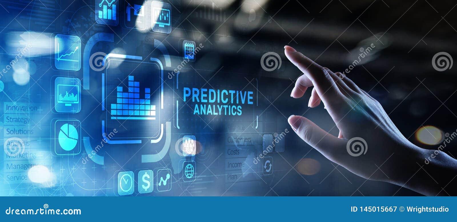 Predictive internet f?r intelligens f?r aff?r f?r analyticsBig Data analys och modernt teknologibegrepp p? den faktiska sk?rmen