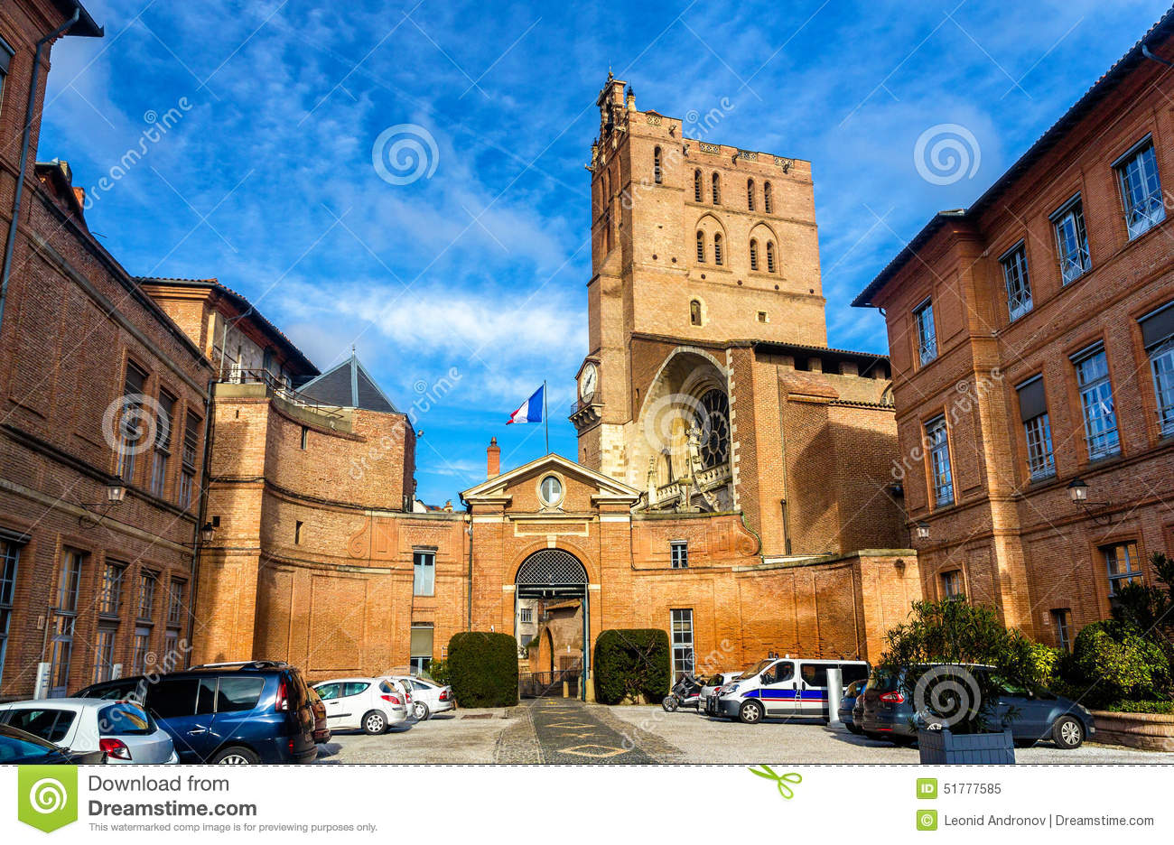prefecture of midi pyrenees and st etienne cathedral stock photo image 51777585. Black Bedroom Furniture Sets. Home Design Ideas