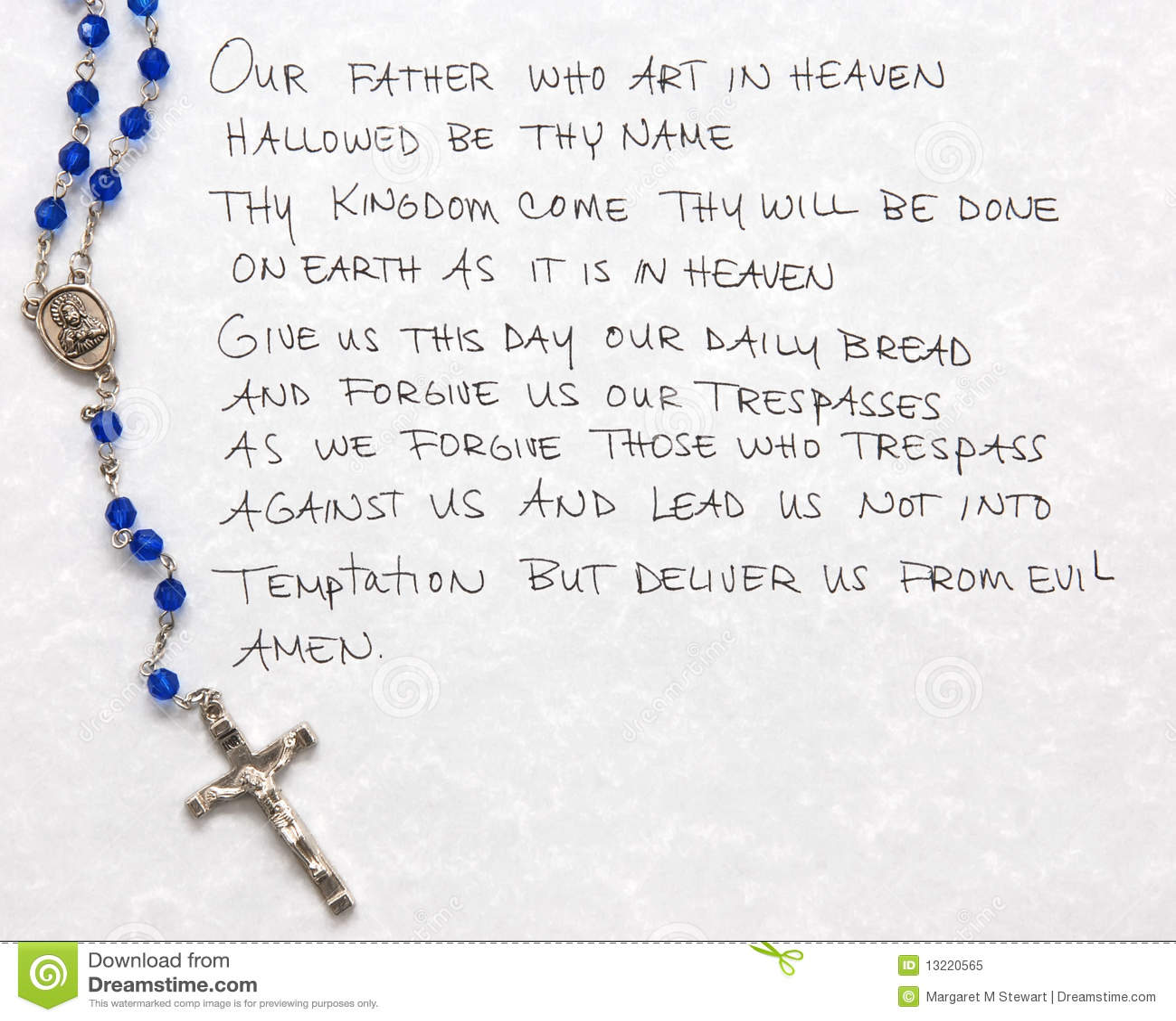 Preghiera del signore immagine stock immagine di fede - Stampabile la preghiera del signore ...