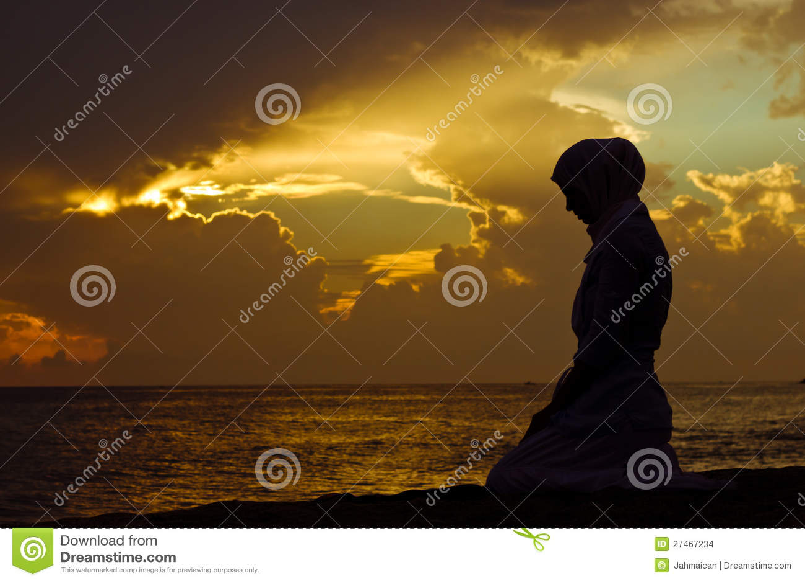 Preghiera musulmana della donna