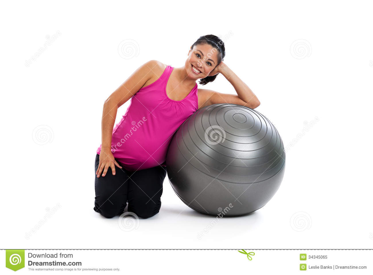 Pregnancy fitness portrait royalty free stock photo for Sitting on the floor during pregnancy