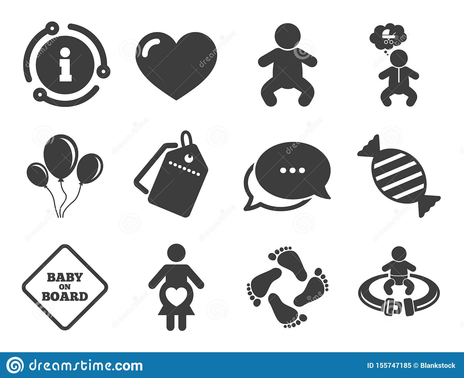 Pregnancy Maternity And Baby Care Icons Vector Stock Vector Illustration Of Discount Children 155747185