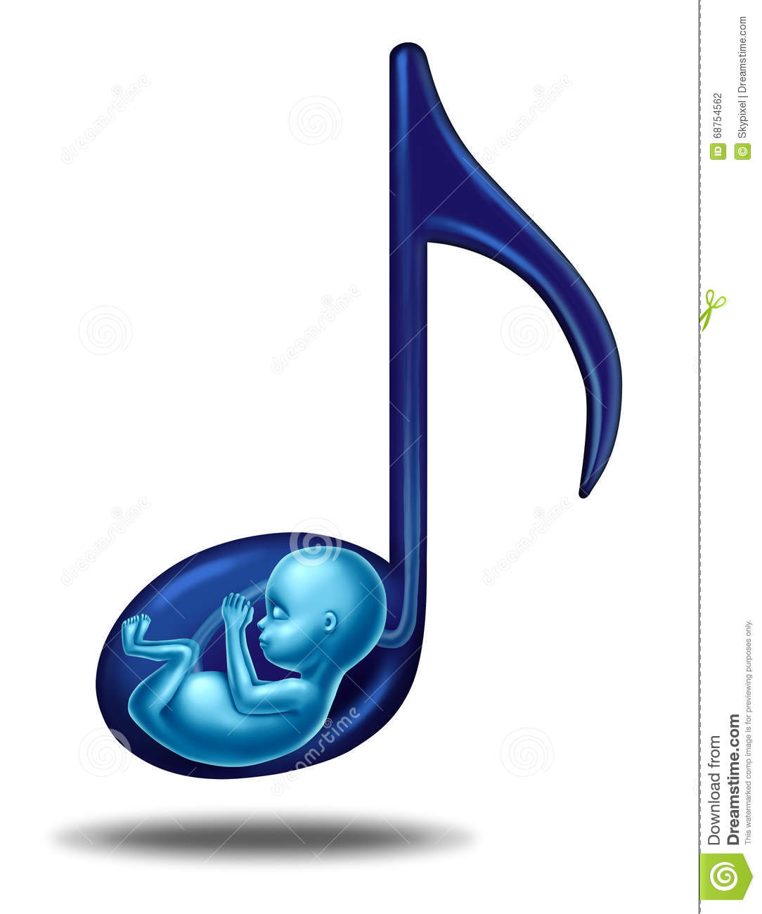 Developing Fetus Inside The Womb Cartoon Vector