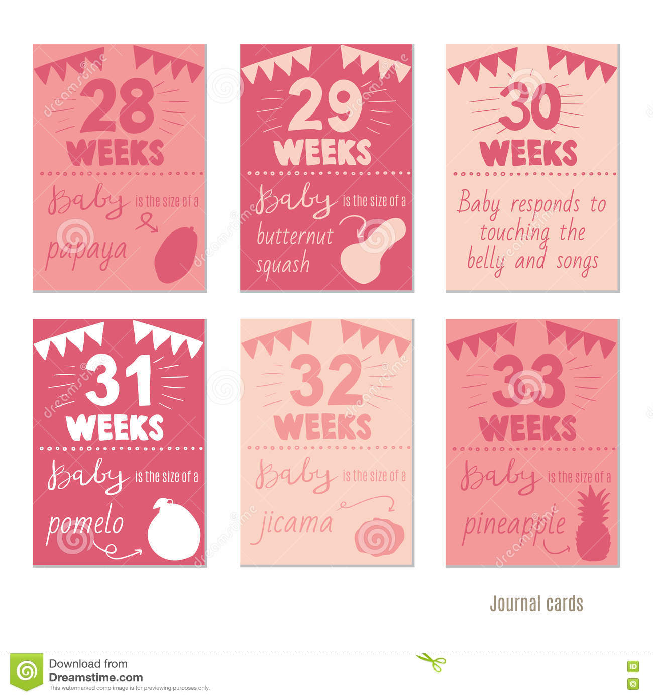 Pregnancy 28 33 weeks vector design templates for journal cards royalty free vector download pregnancy 28 33 weeks vector design templates for journal pronofoot35fo Gallery