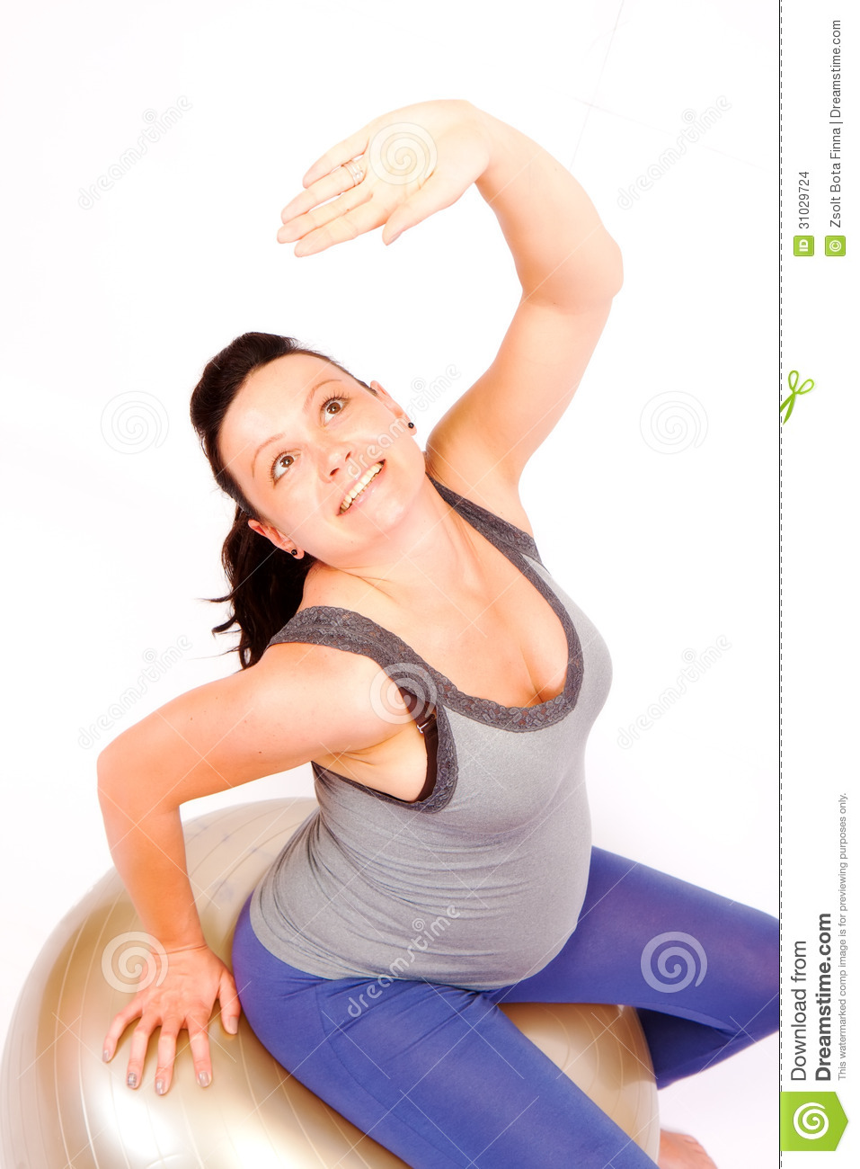 Pregnant Gym Stock Images