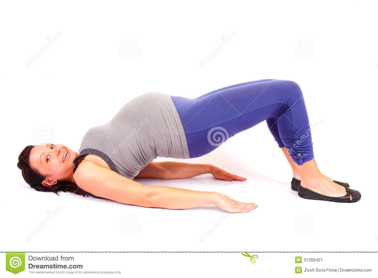 Pregnant Gym Royalty Free Stock Photography